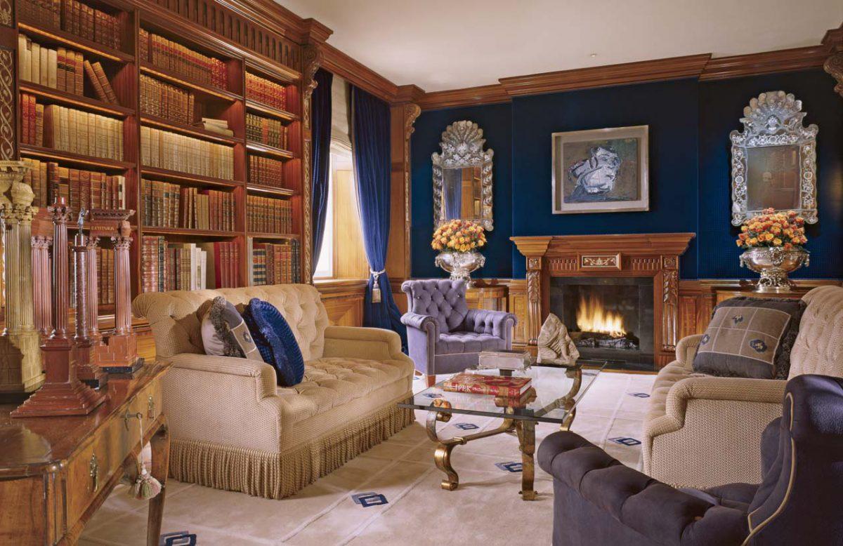 traditional design library by Geoffrey Bradfield