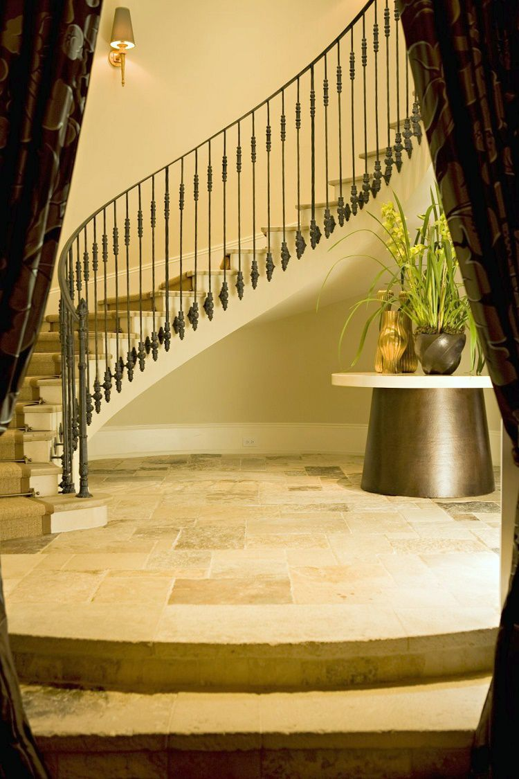 Beverly Park chateau basement staircase