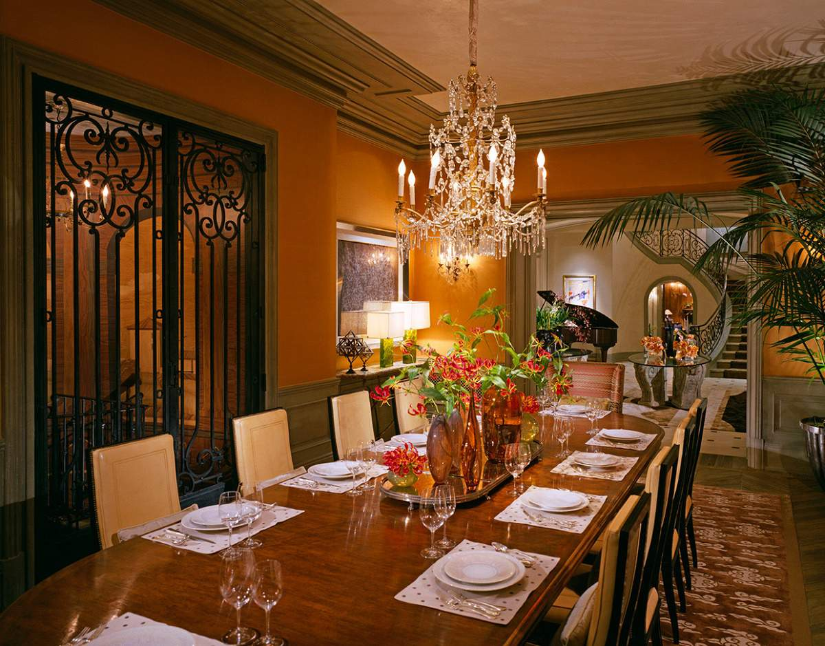 Beverly Park chateau formal dining room