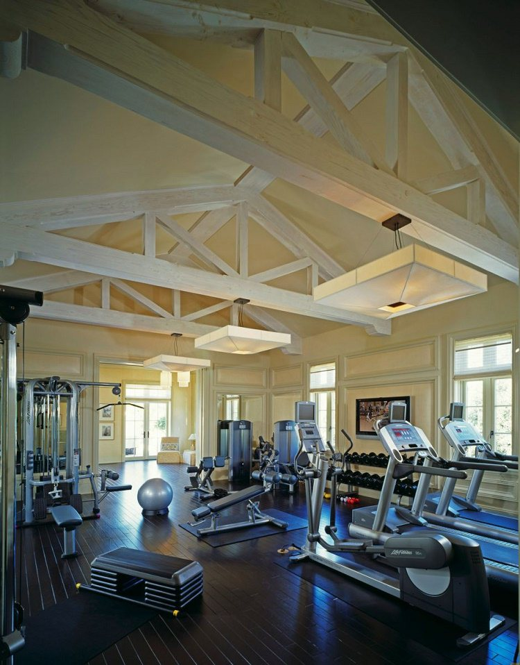 Beverly Park chateau home gym