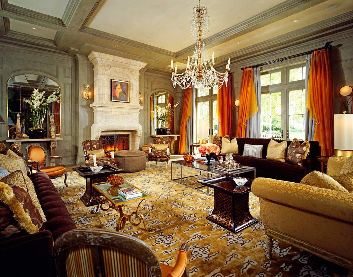 Beverly Park chateau living room A