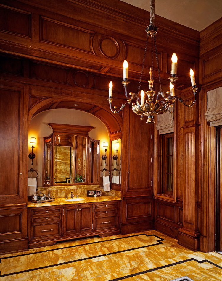 Beverly Park chateau master bathroom his