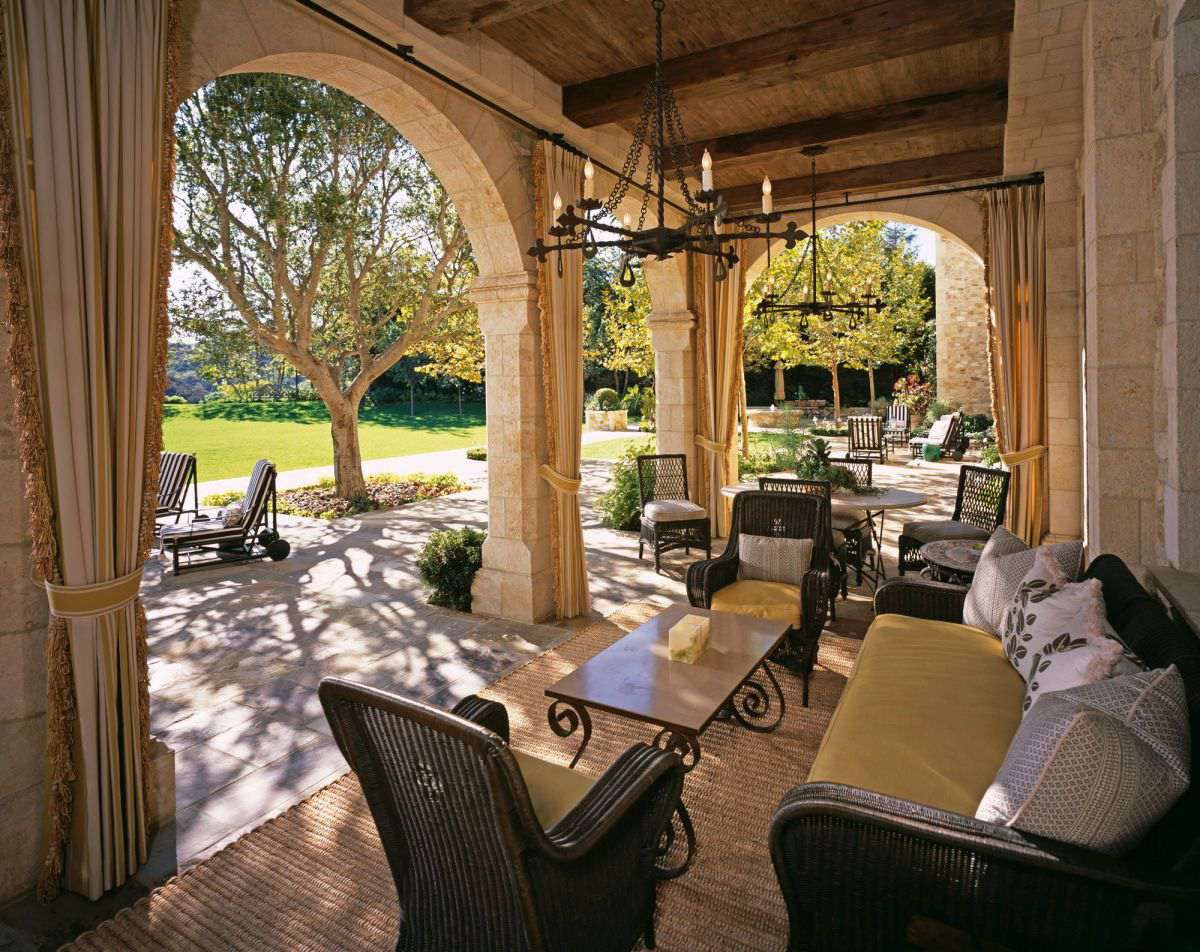 Beverly Park chateau patio A