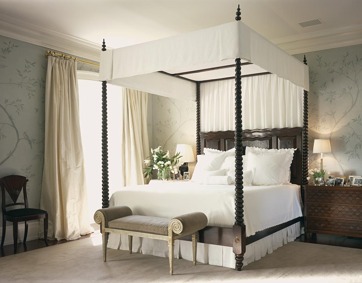 canopy bed against the - photo #19