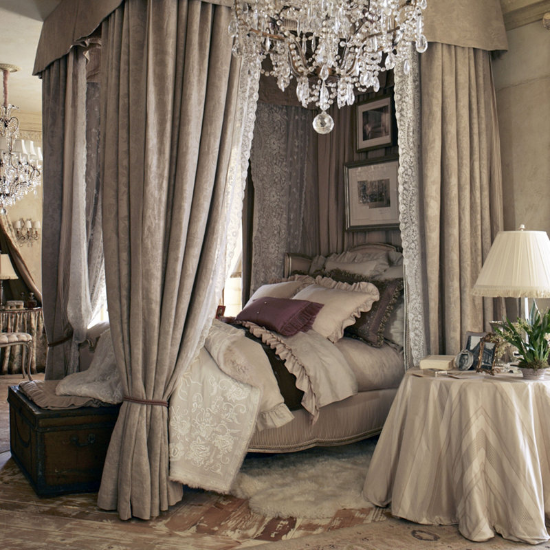 canopy bed against the - photo #14