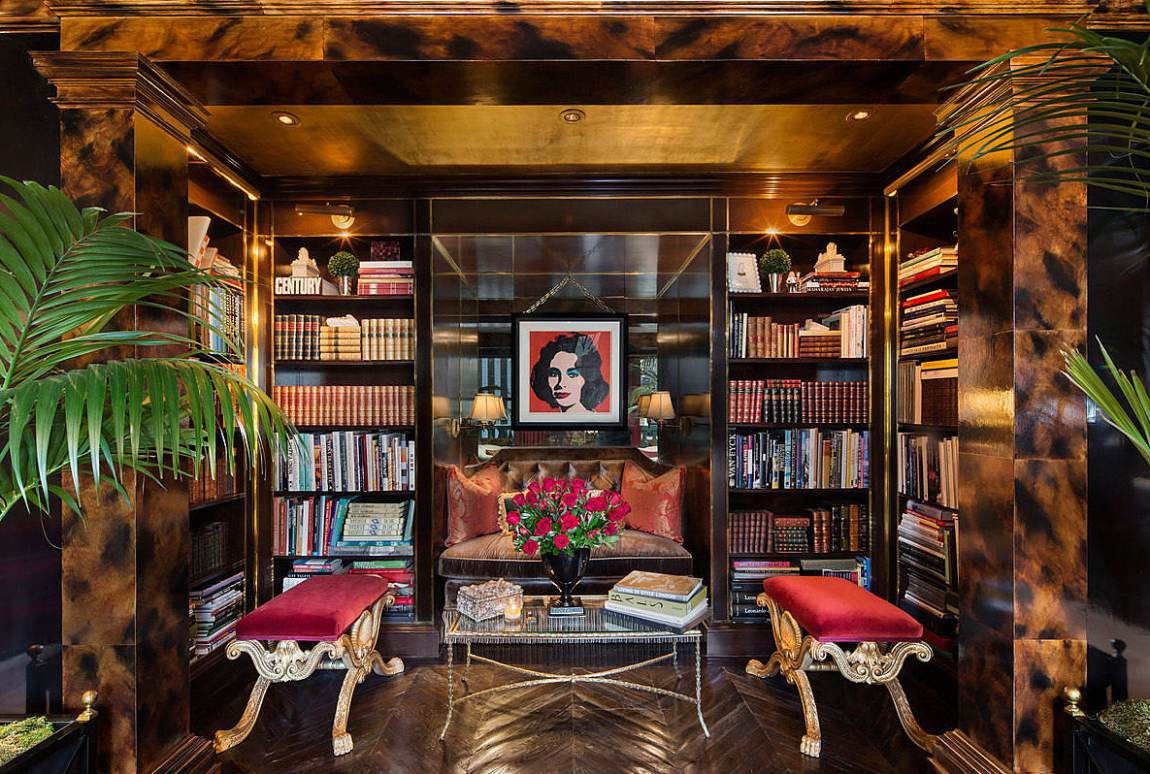 Plaza penthouse luxury home library
