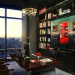 home libraries in Trump Tower Penthouse
