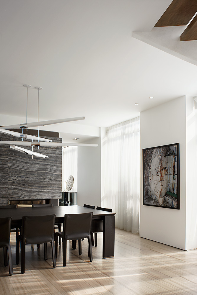 Contemporary penthouse design dining room Contemporary Penthouse