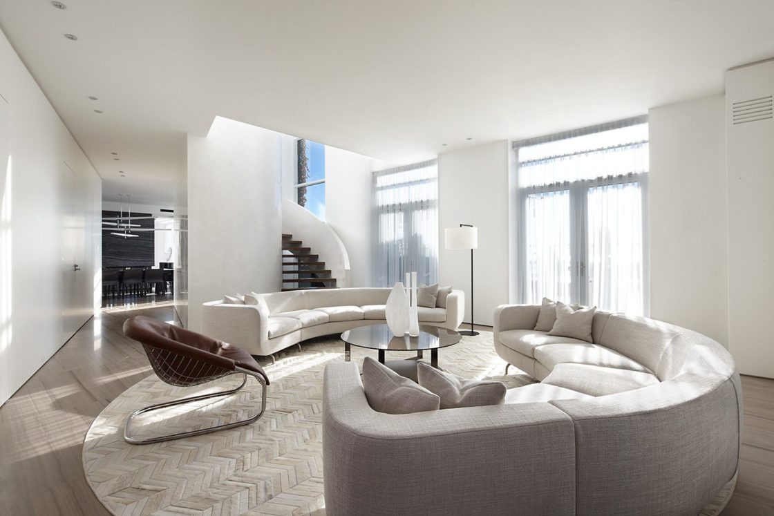 Contemporary penthouse design living room Contemporary Penthouse