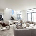 Contemporary penthouse design living room