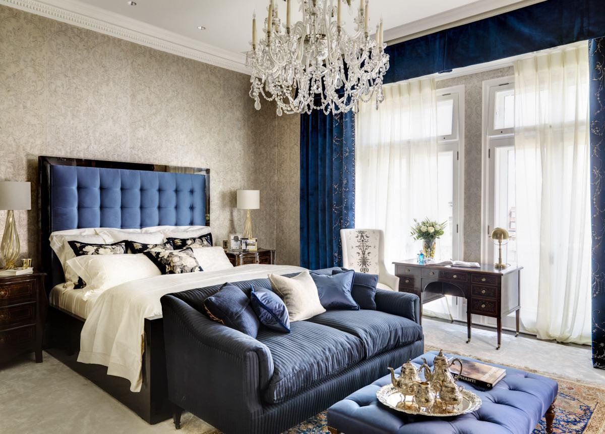 Blue interior design 20 looks dk decor for Interior design bedroom blue