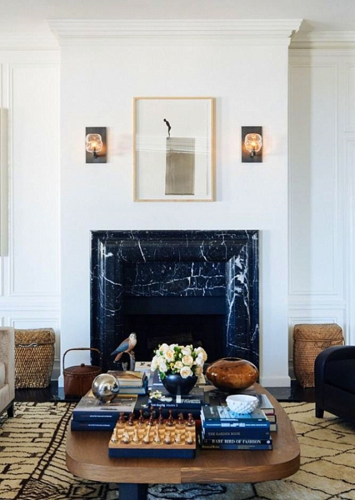 Nicole Hollis metropolitan design living room fireplace focal