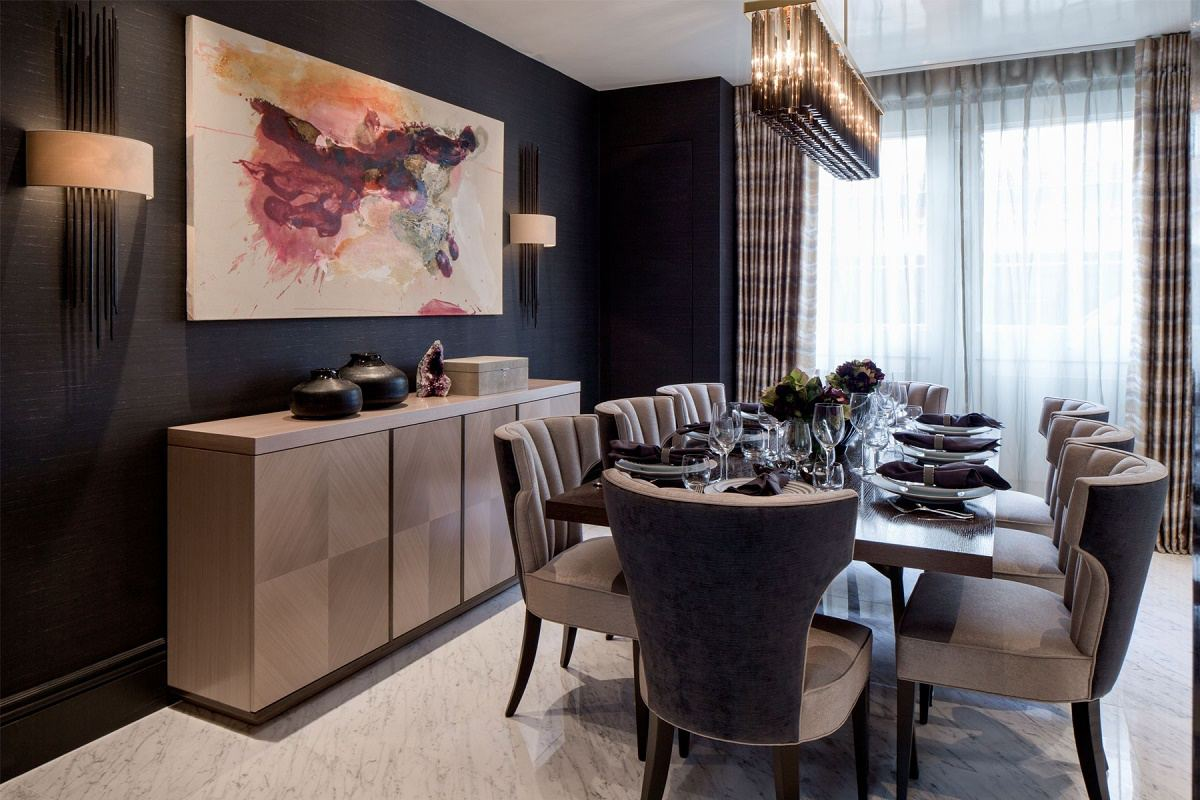 Contemporary mews house dining room