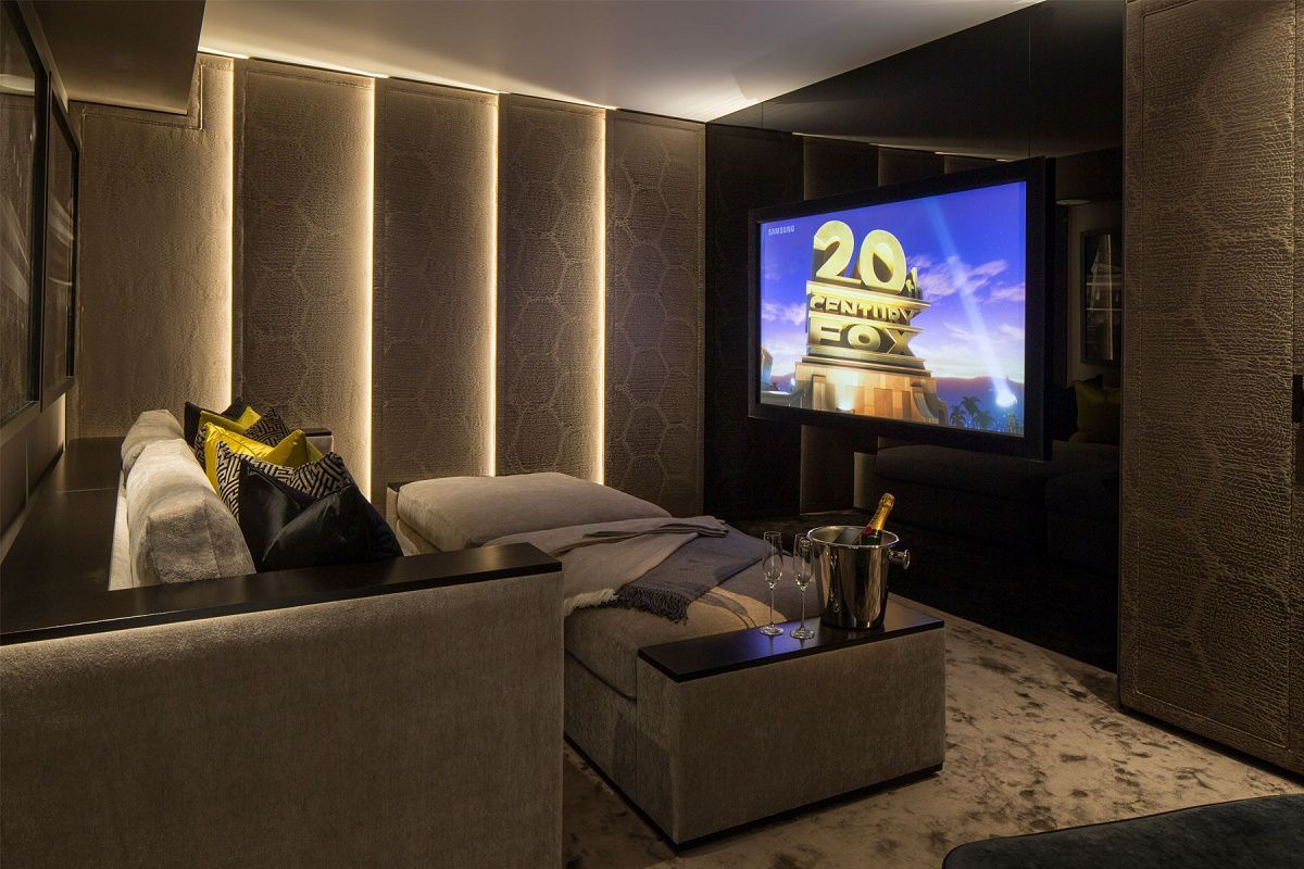 Contemporary mews house media room