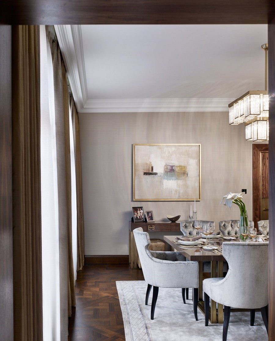 elicyon contemporary luxury dining room detail