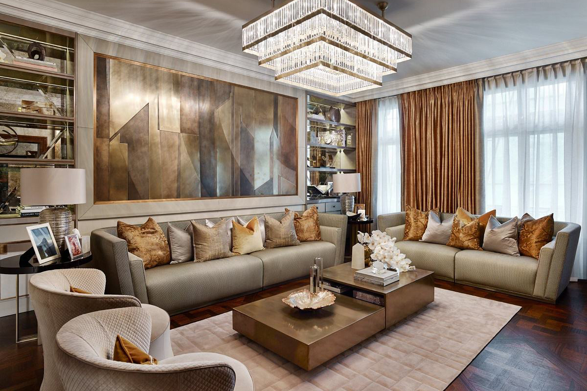 Contemporary luxury design hyde park for Contemporary interior designer