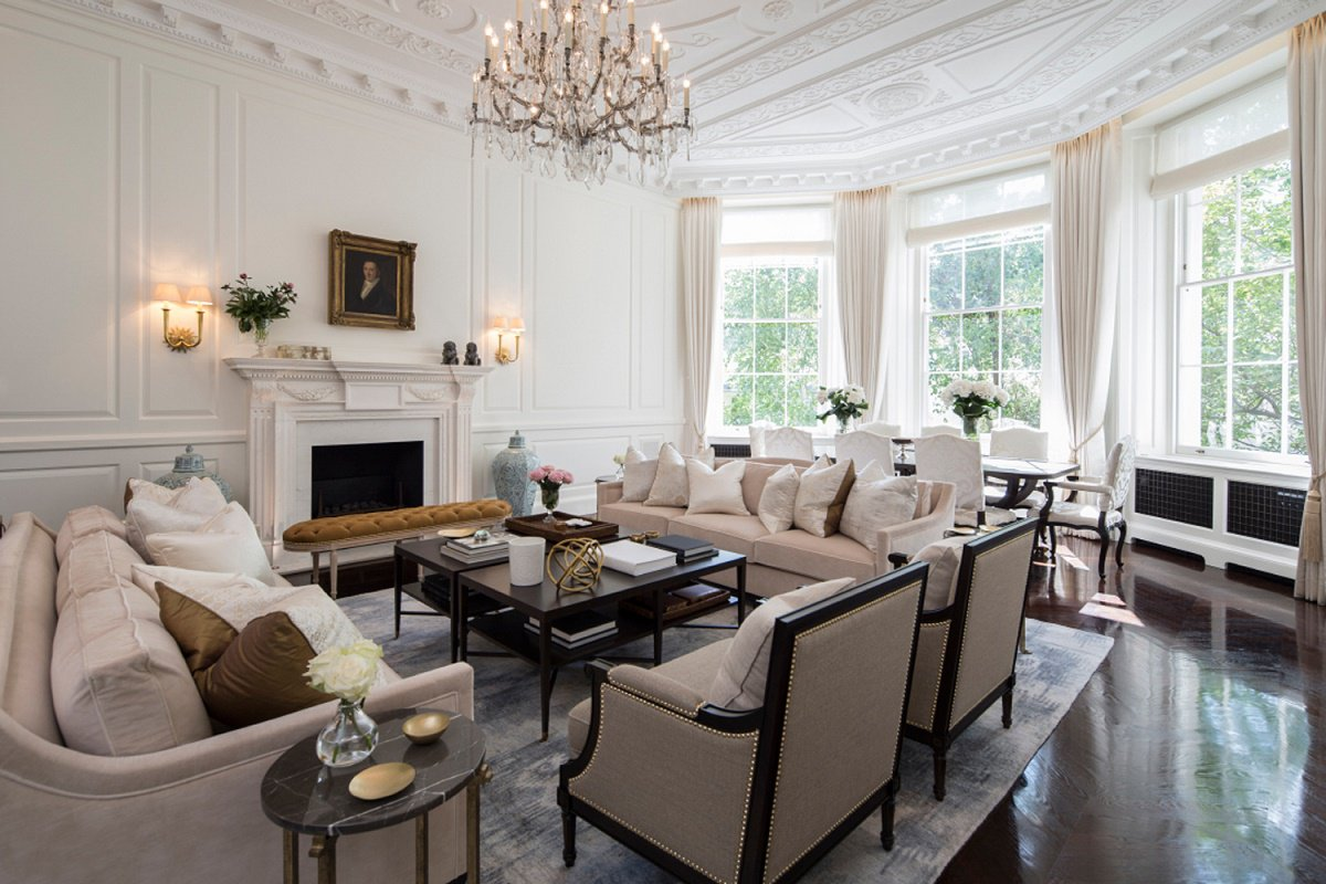 contemporary Regency design by 1508 London living room B