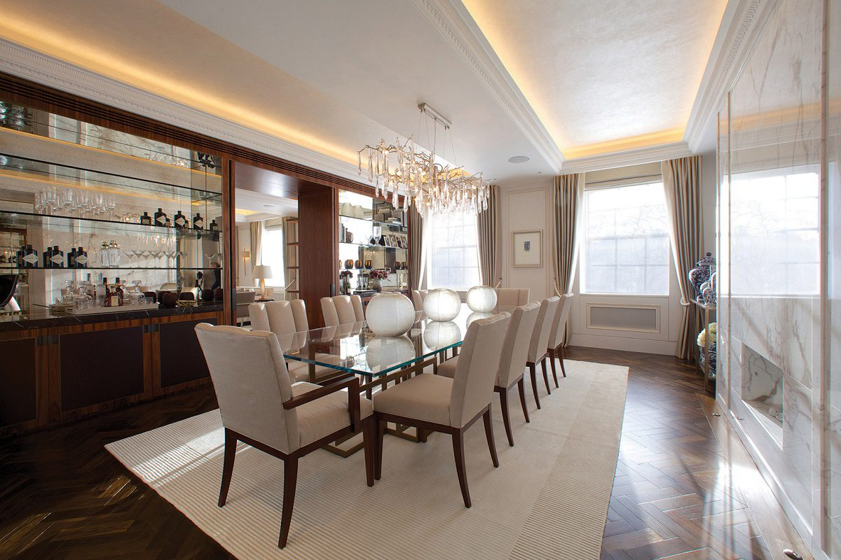 Mayfair luxury interior design dining room