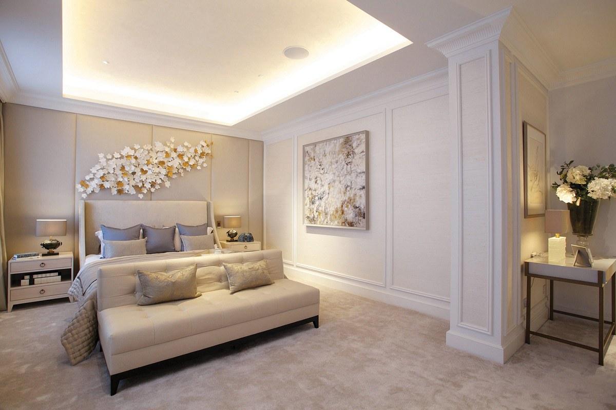Mayfair luxury interior design master bedroom