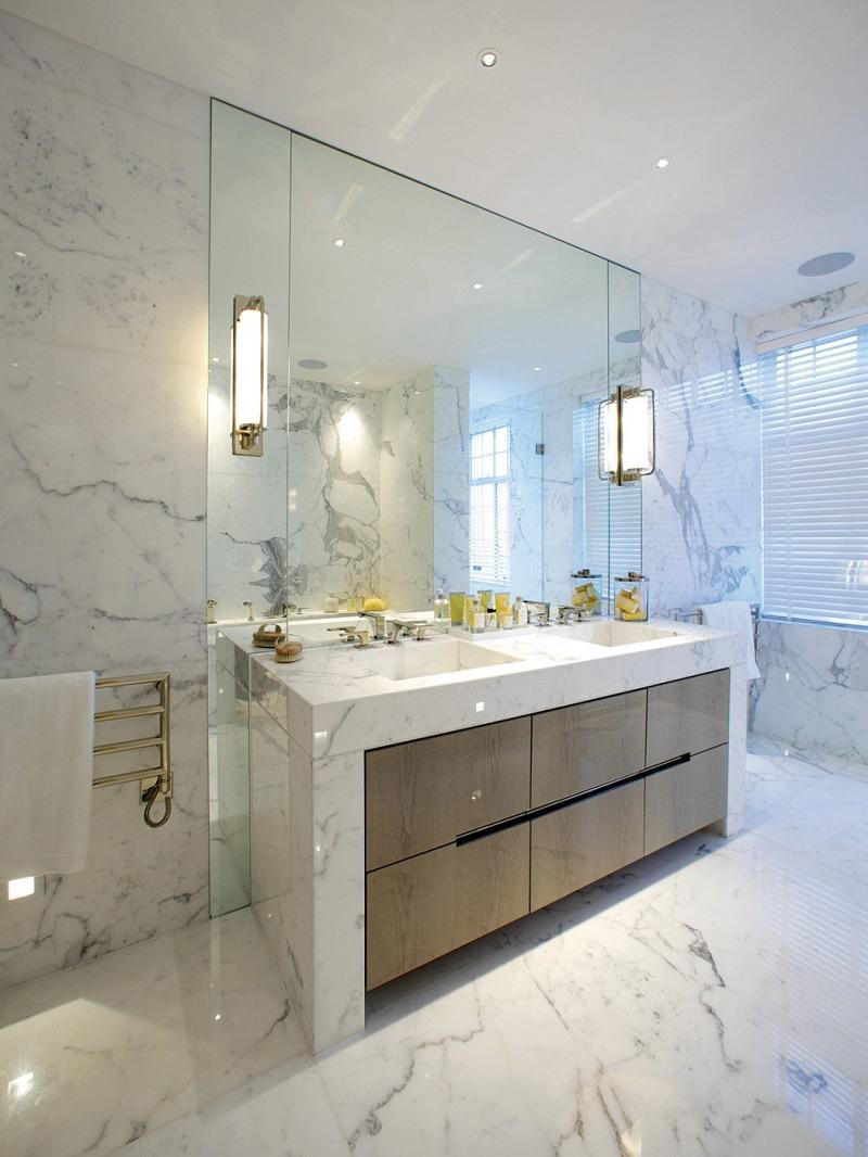 Mayfair luxury interior design master bathroom vanity