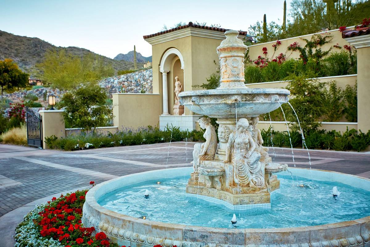 Mediterranean style fountain