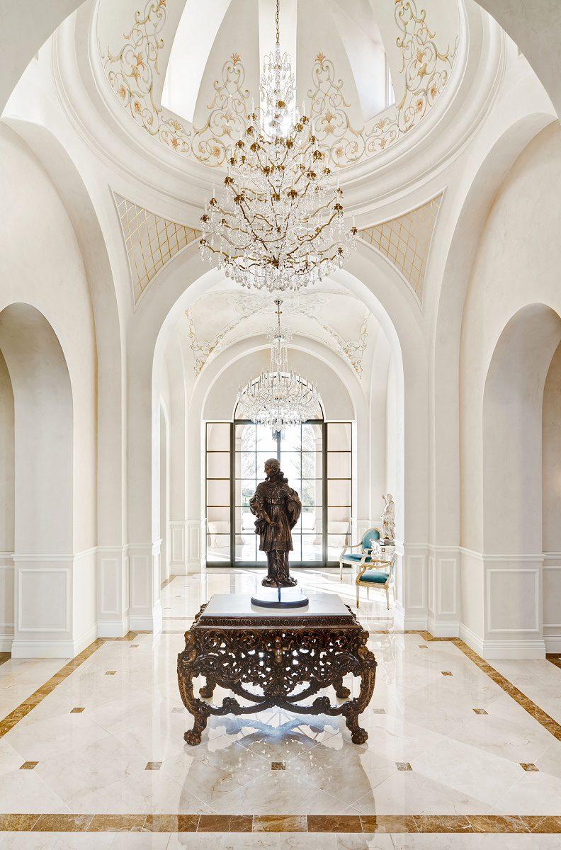 Mediterranean style home designers in az - Mediterranean Style Hall Rotunda