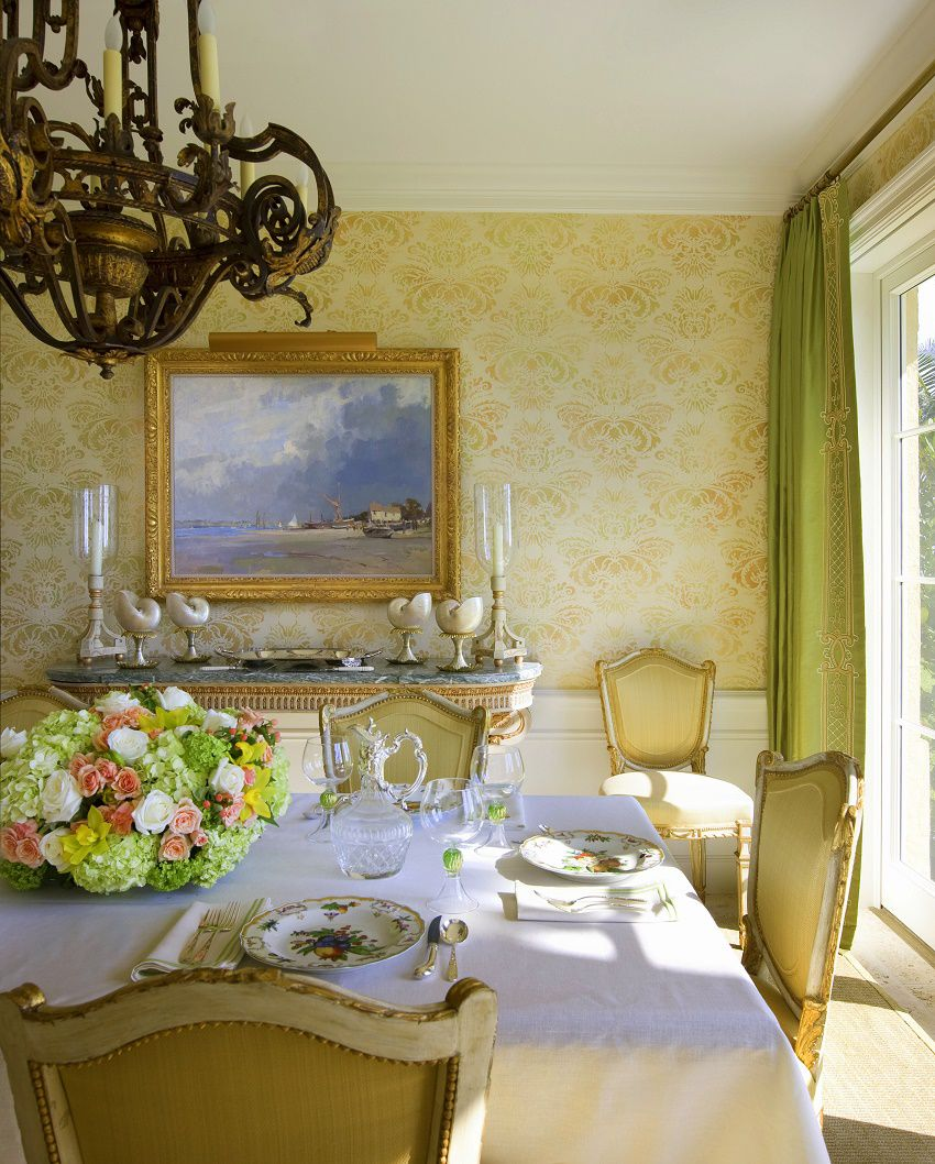 Venetian waterfront residence dining room