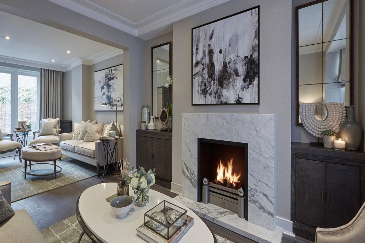sophie paterson chelsea pied-a-terre contemporary classic Living room A