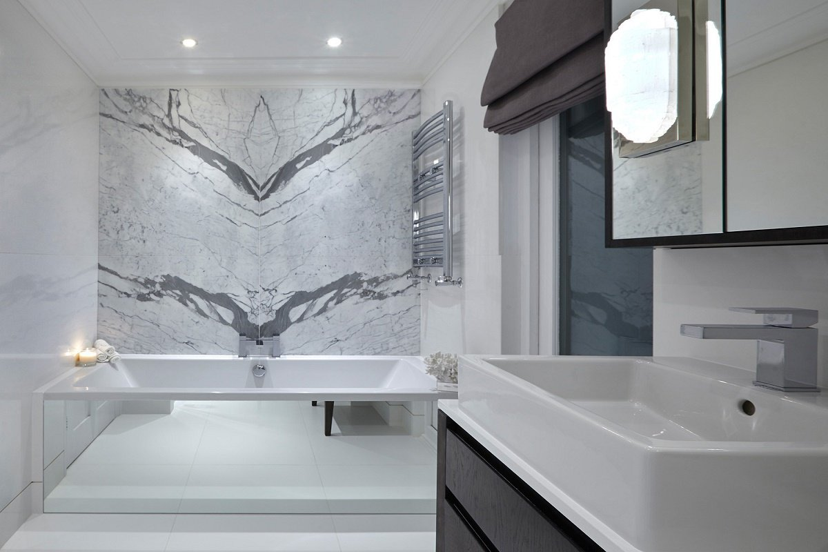 sophie paterson chelsea contemporary classic pied-a-terre bathroom
