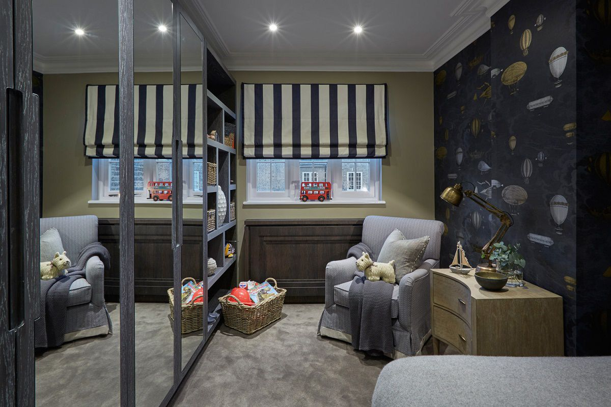 sophie paterson chelsea contemporary classic pied-a-terre bedroom 2 detail