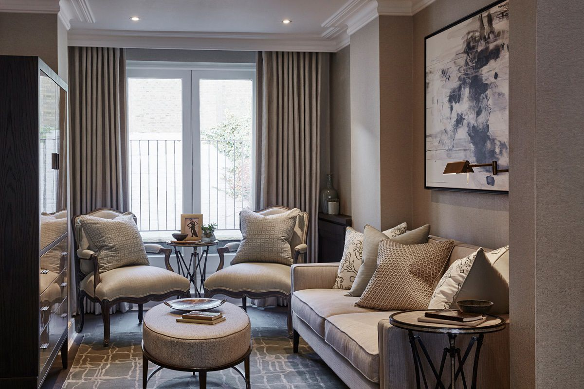 sophie paterson chelsea pied-a-terre contemporary classic living room c