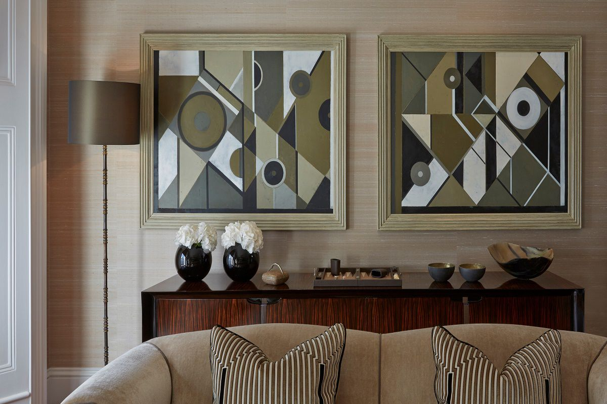 sophie paterson chelsea townhouse contemporary classic living room details