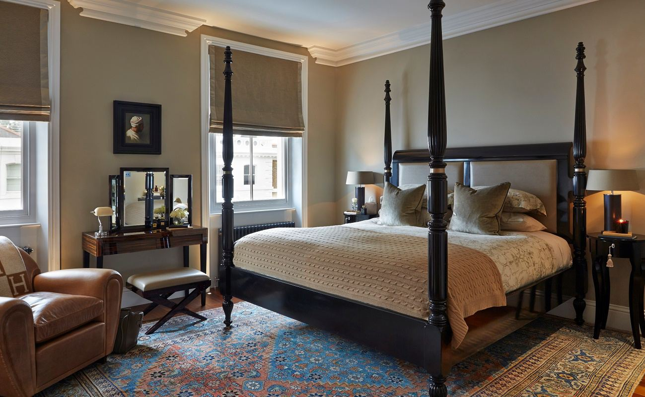 sophie paterson chelsea townhouse contemporary classic master bedroom
