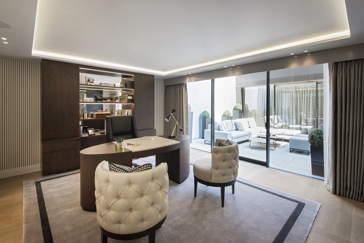 park crescent luxury homes home office A