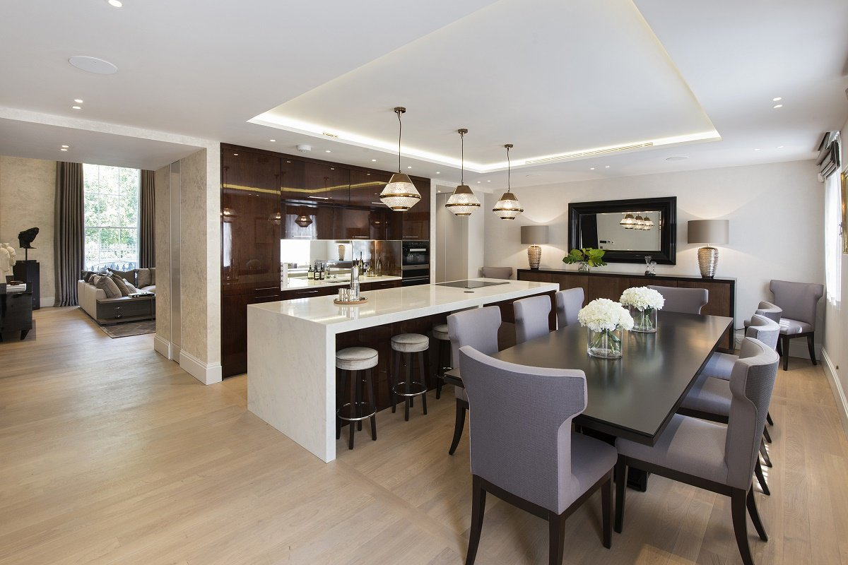 park crescent luxury homes kitchen dining A