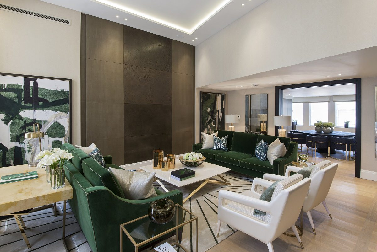 park crescent luxury homes living room D
