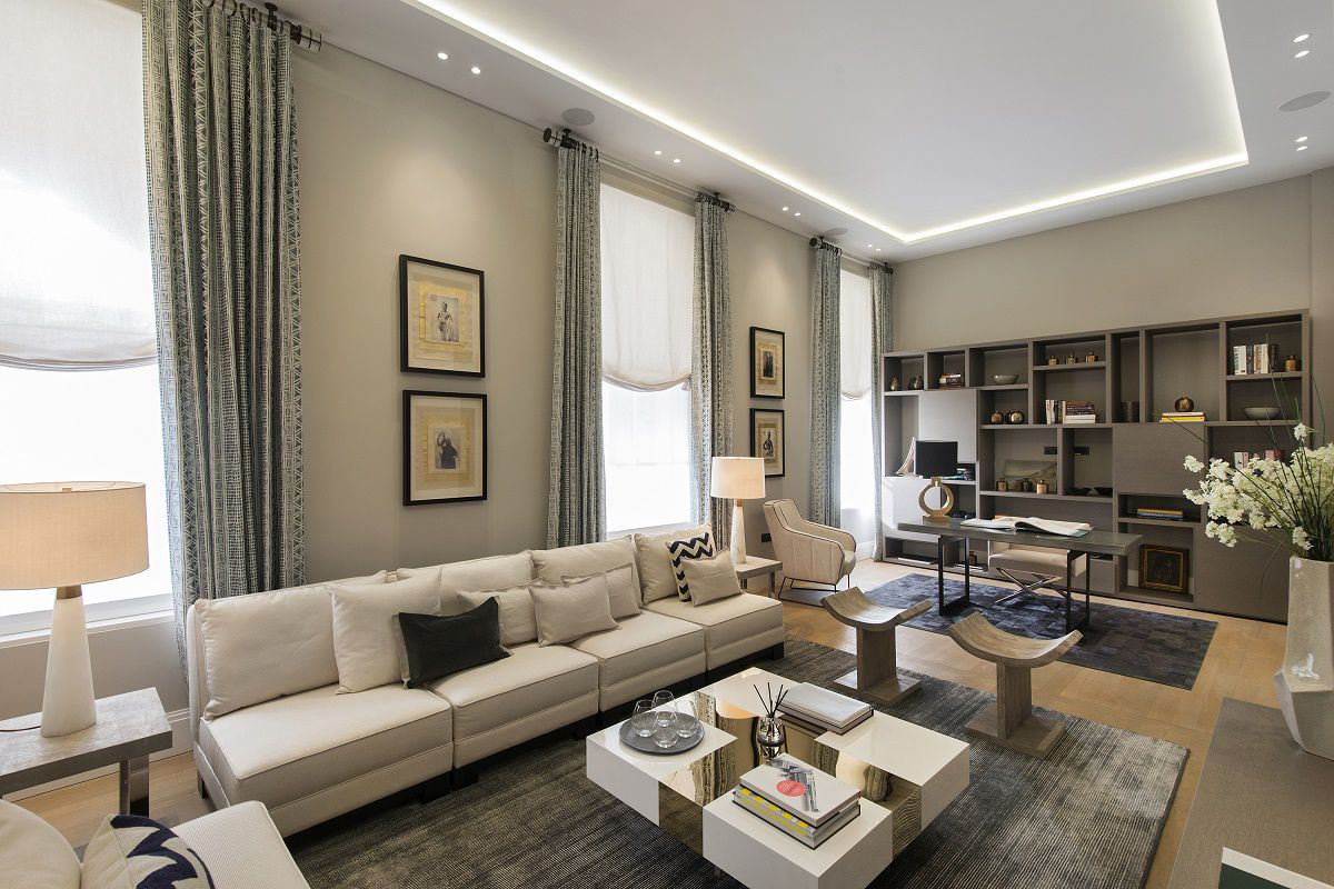 park crescent luxury homes living study room