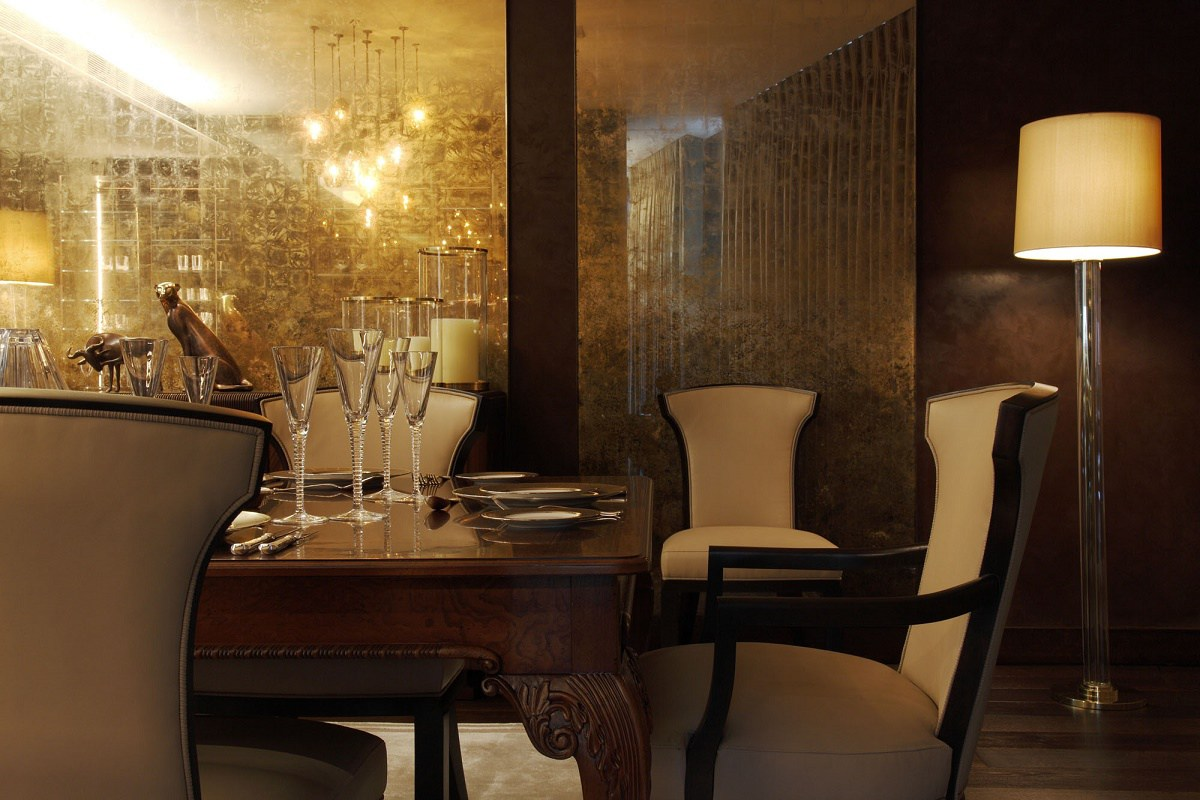 casa forma one hyde park dining bespoke design close up view