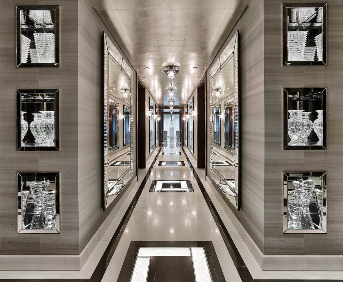 elicyon One Hyde Park luxury design hall display