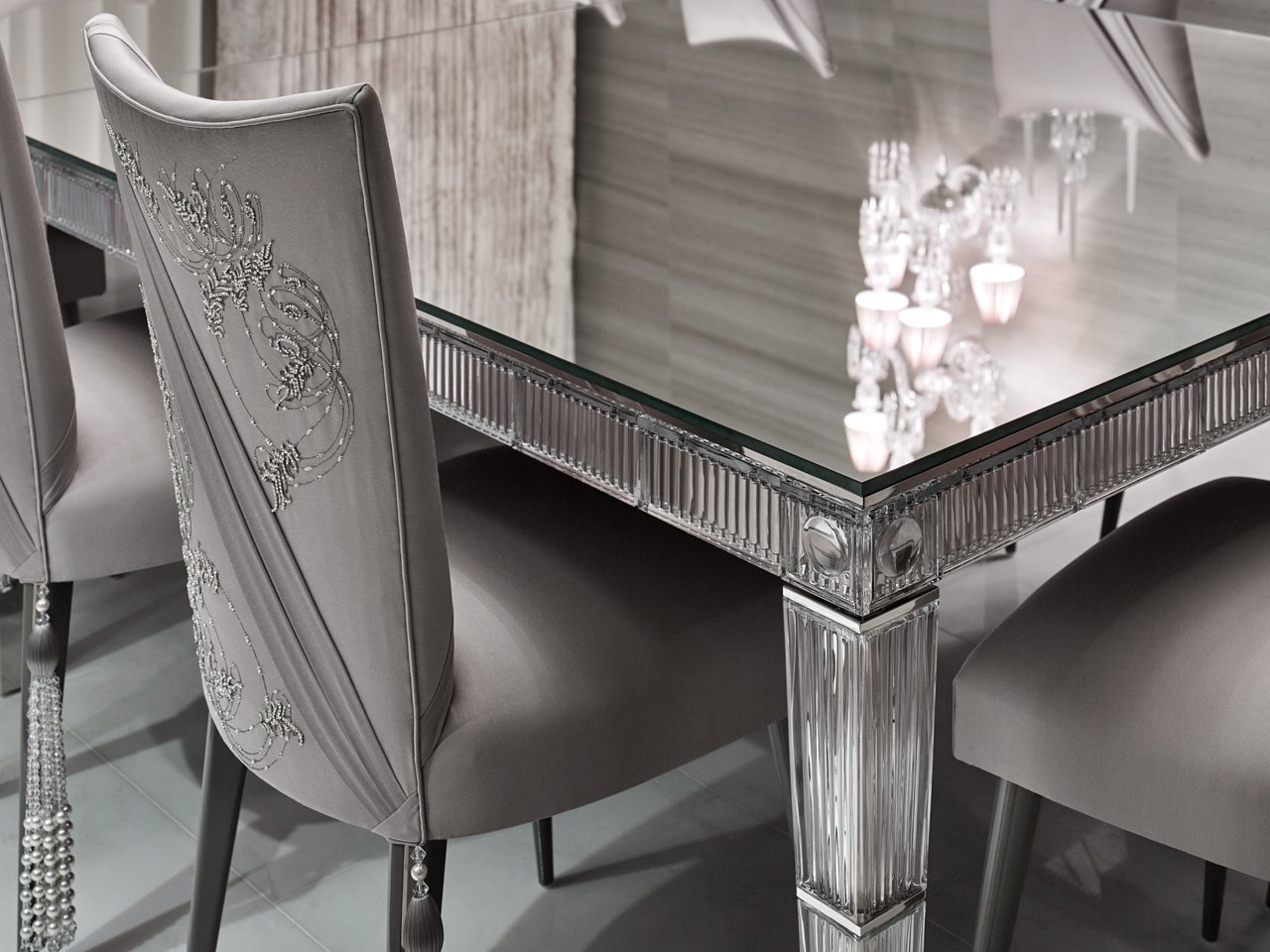 elicyon one hyde park luxury design dining room detail