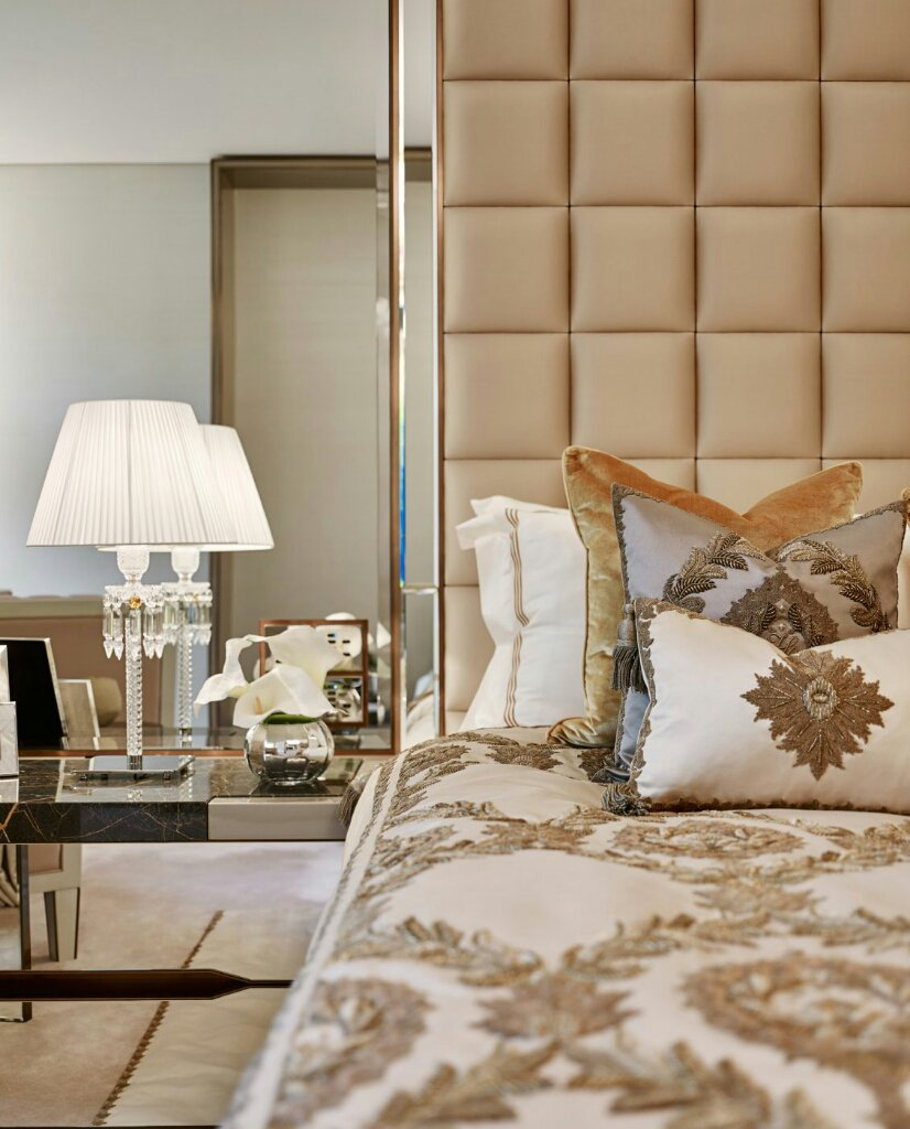 elicyon one hyde park luxury design master bedroom detail