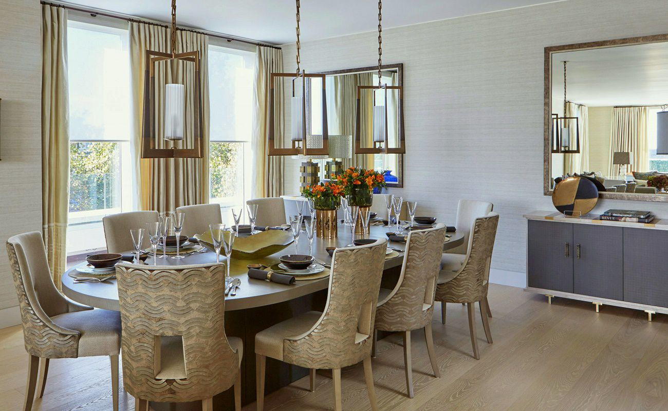 Livable luxury helen green design dk decor for Luxury dining room design
