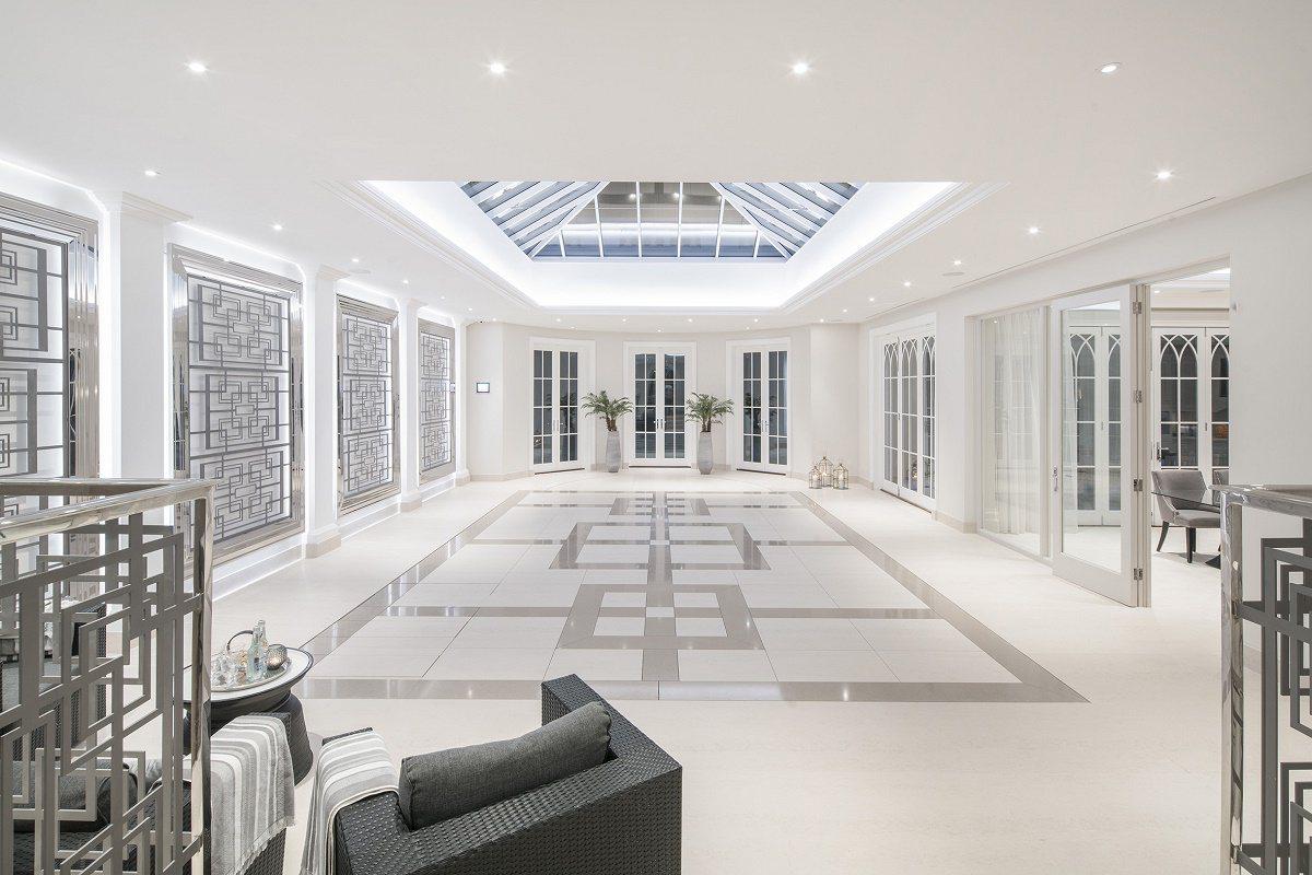 Neo-Georgian style ballroom floor up