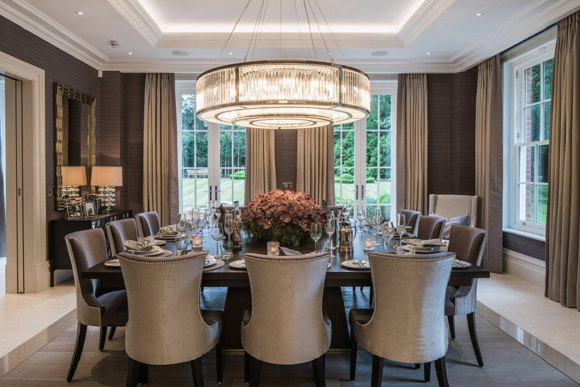 Neo georgian style english estate dk decor for Best modern dining rooms