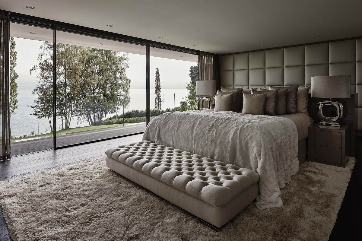 eric kuster contemporary lakeside villa master bedroom