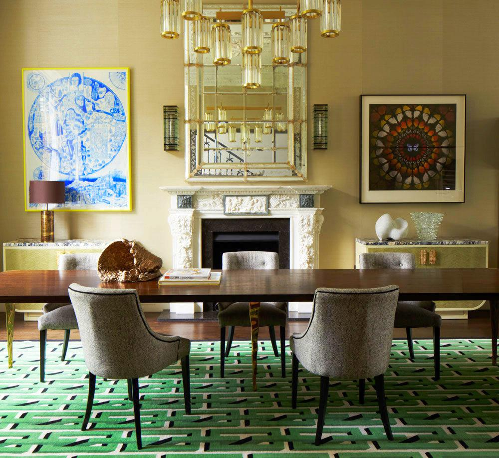 Notting Hill townhouse formal dining room