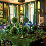 green interior design inspiration Anouska Hempel Wiltshire Manor