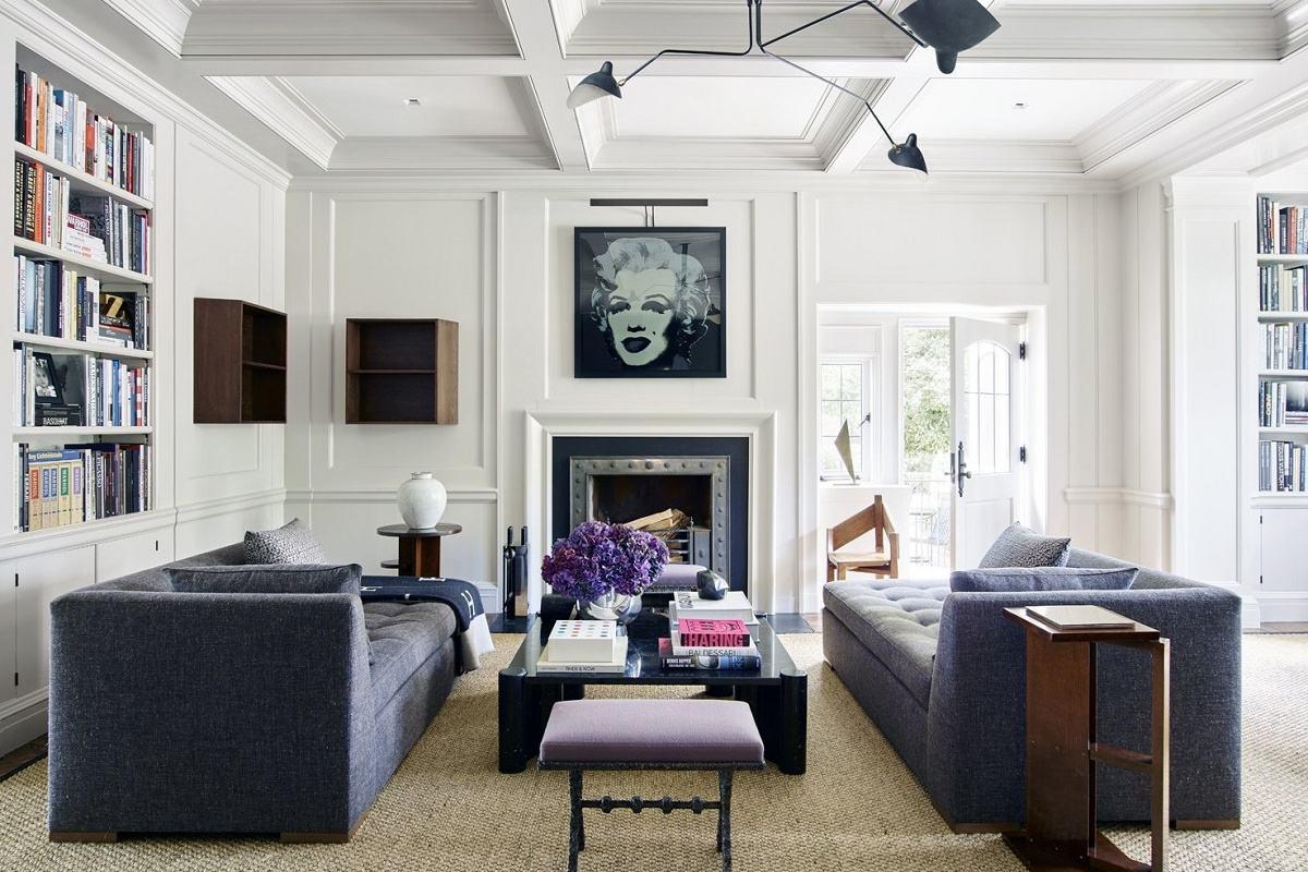 modern luxury Mark Cunningham family room