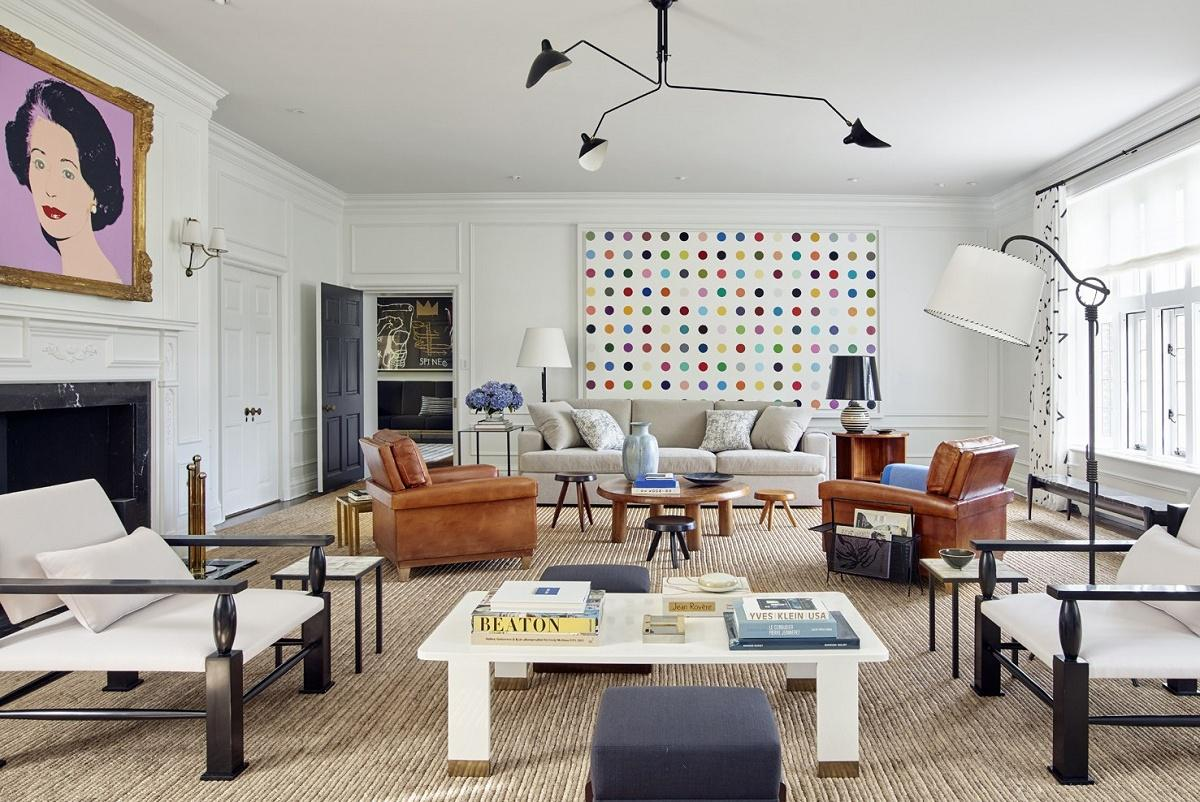 modern luxury by mark Cunningham living room view A