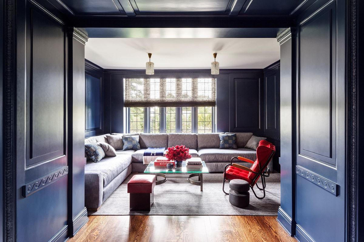 modern luxury Mark Cunningham media room